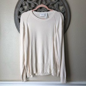Liz Claiborne cream white XL sweater